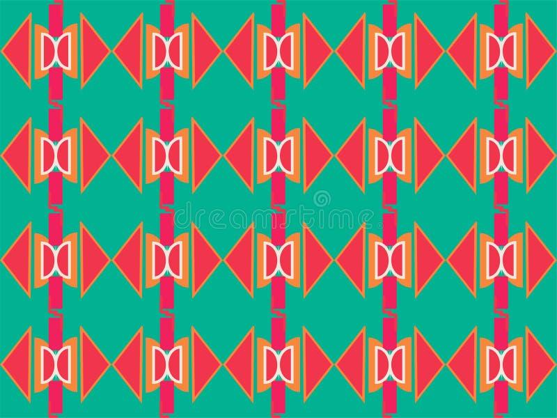 Forma geométrica padrão étnico tradicional repetitivo 33 ilustração royalty free