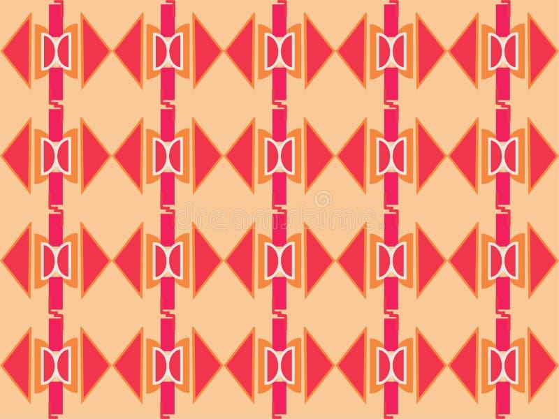 Forma geométrica padrão étnico tradicional repetitivo 16 ilustração royalty free