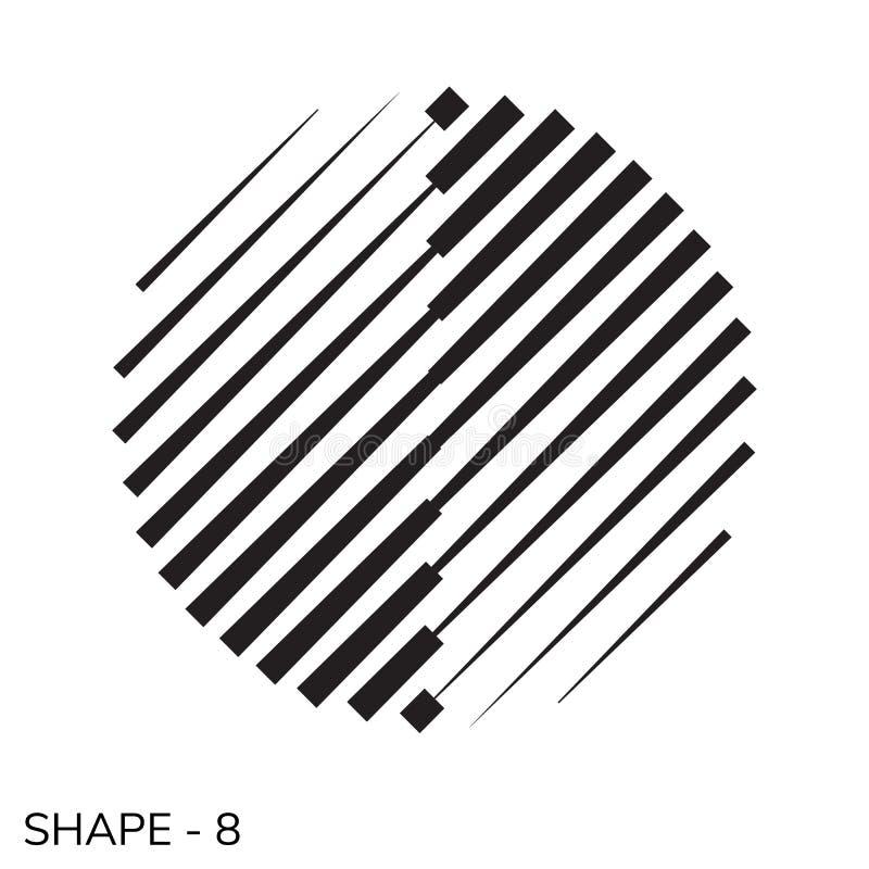 Forma geométrica simple libre illustration