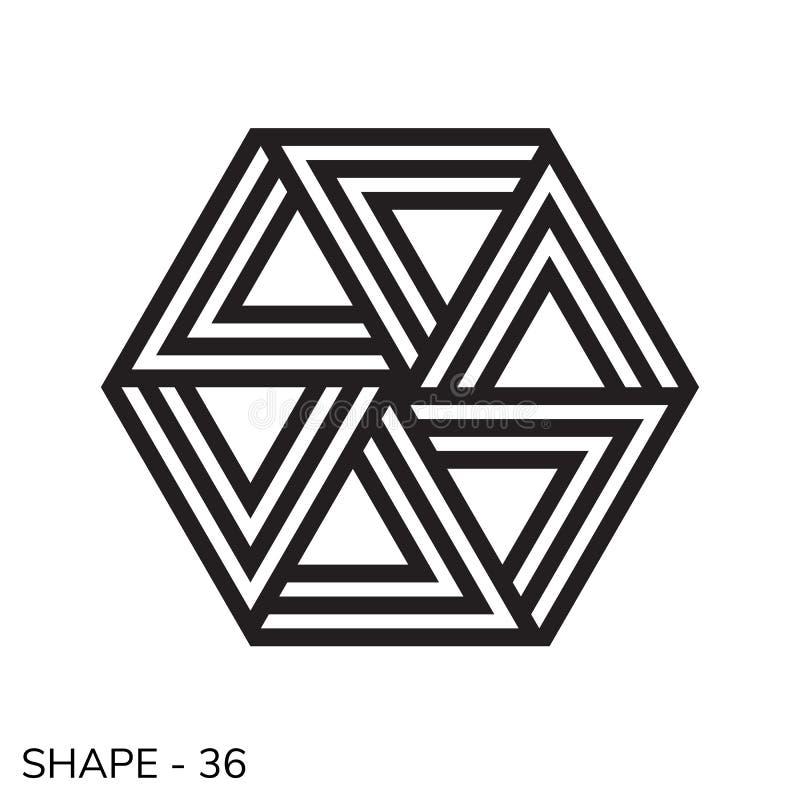 Forma geométrica simple ilustración del vector