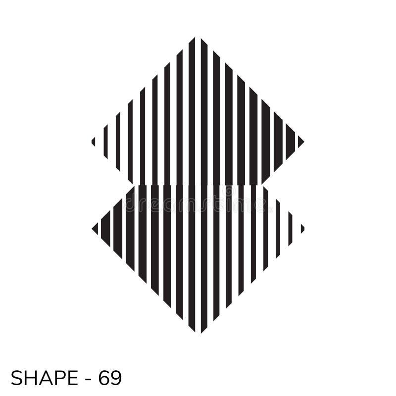 Forma geométrica simple stock de ilustración