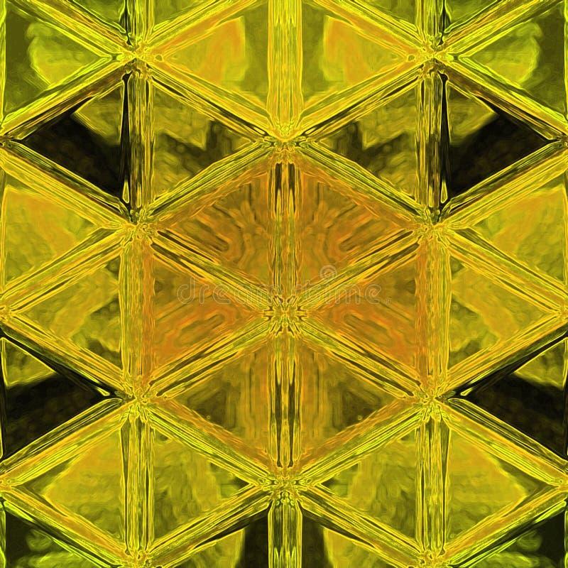 Forma geom?trica del dise?o gr?fico Ejemplo triangular moderno en amarillo sucio stock de ilustración
