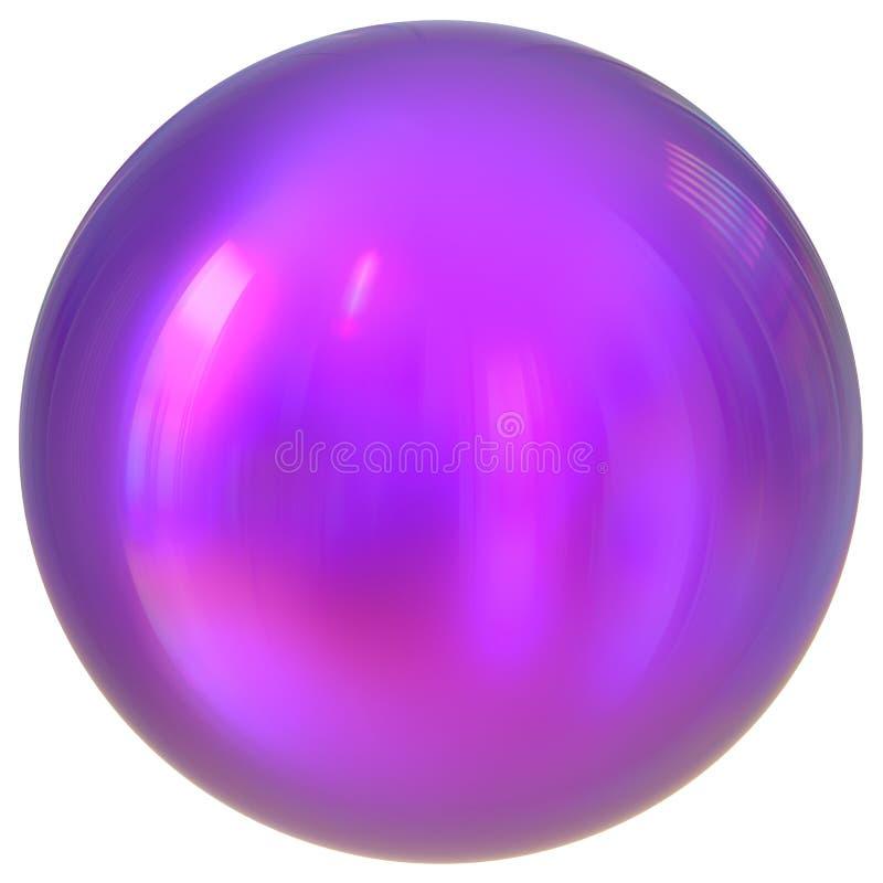 Forma geometrica della sfera del bottone del cerchio di base rotondo porpora della palla royalty illustrazione gratis