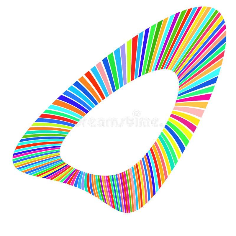 Forma geometrica delle bande multicolori luminose illustrazione vettoriale