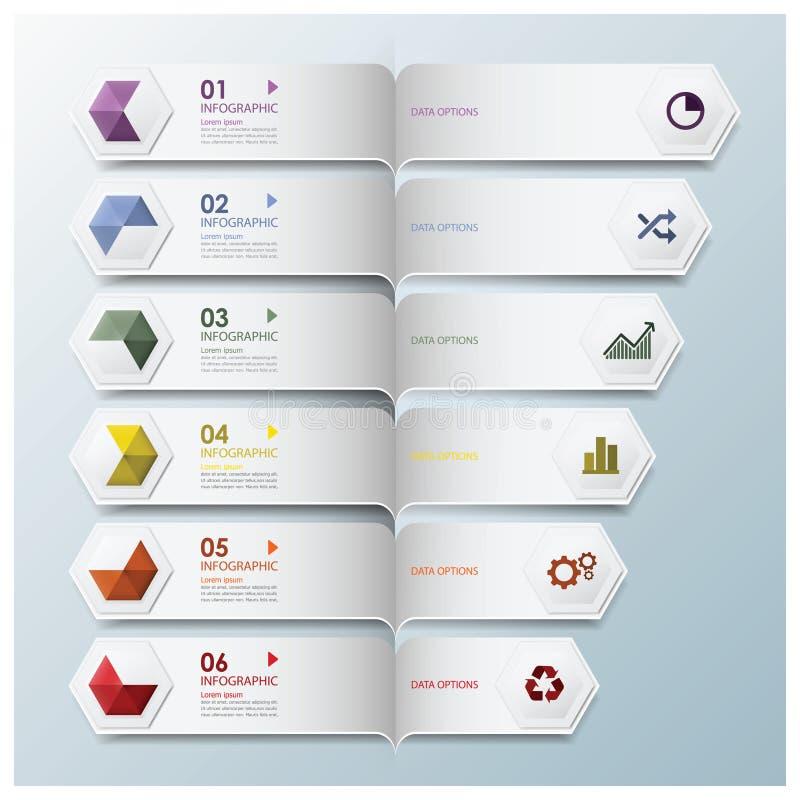 Forma geometrica Infographic di esagono illustrazione di stock