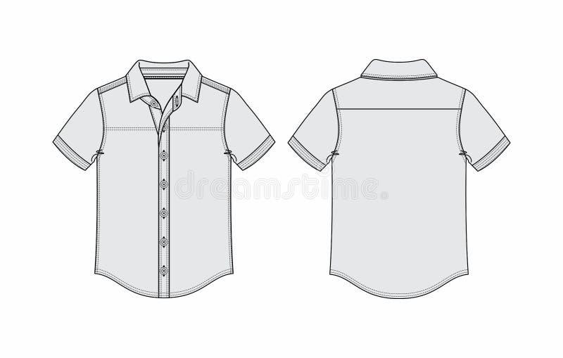 Forma gráfica das ilustrações do esboço da camisa imagens de stock royalty free