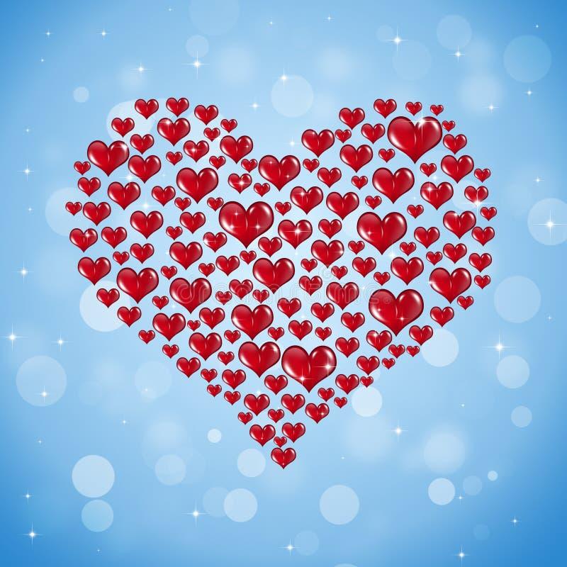 Forma grande de corazones rojos libre illustration