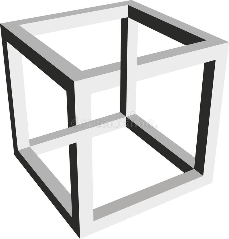 Forma imposible de un cubo stock de ilustración