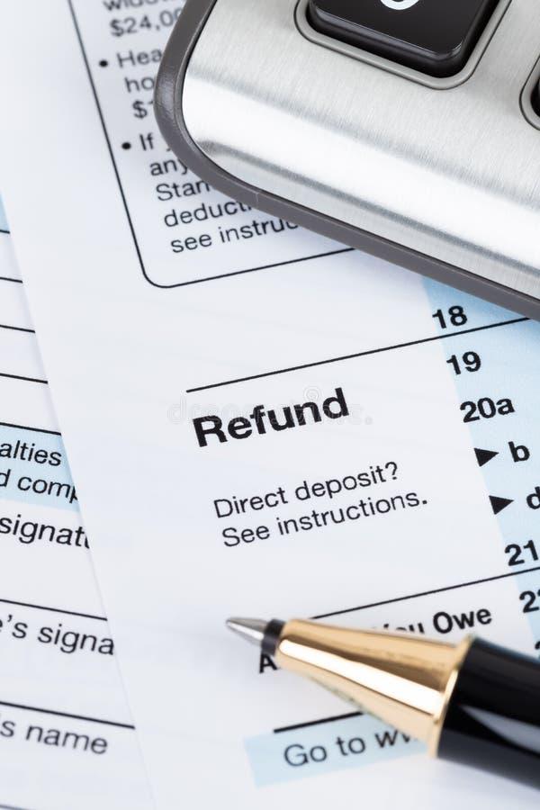 Forma individual por el IRS, concepto de la declaración sobre la renta para los impuestos foto de archivo libre de regalías
