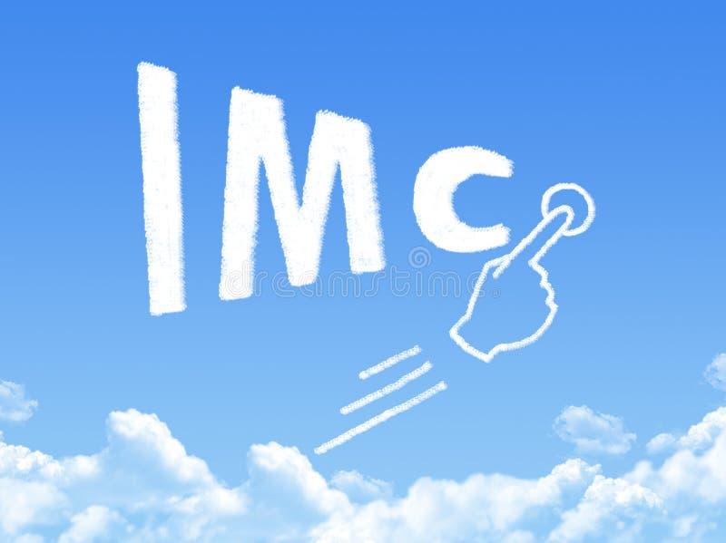 Forma integrada da nuvem da mensagem de uma comunicação de mercado ilustração do vetor
