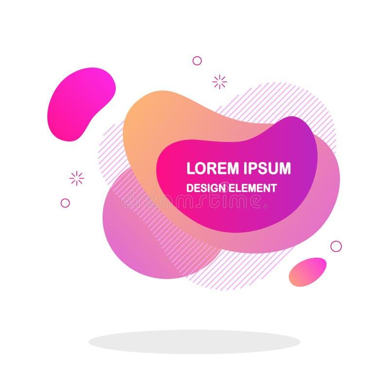 Forma líquida abstrata isolada no fundo branco Bandeira com formulários fluidos, onda do inclinação, linhas Logotipo moderno Proj foto de stock
