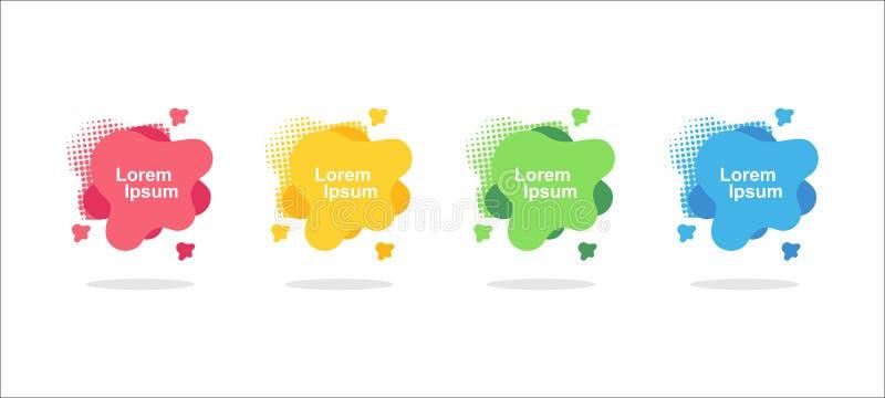 Forma liquida geometrica piana con i vari colori royalty illustrazione gratis