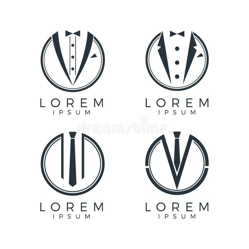 Forma Logo Set dos homens ilustração do vetor