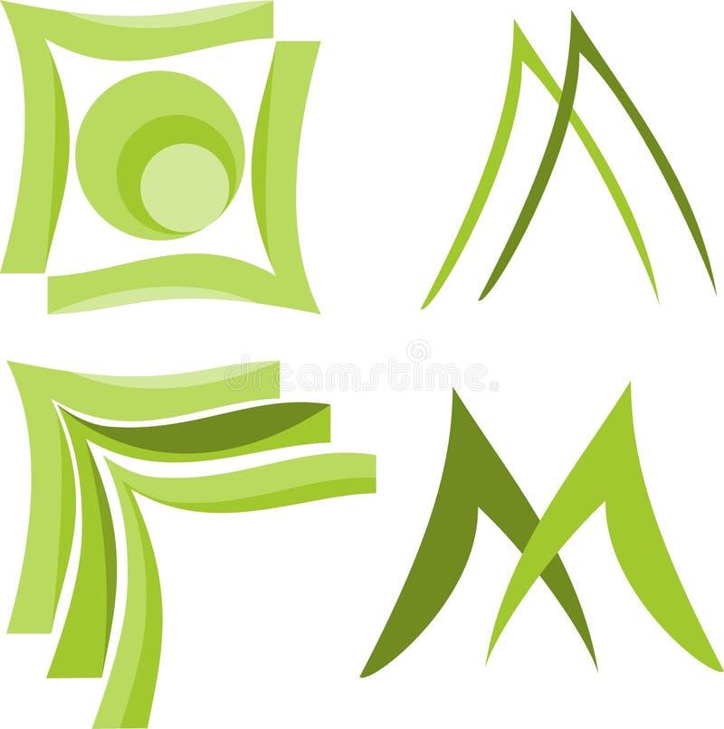 Forma Logo Vector immagine stock libera da diritti