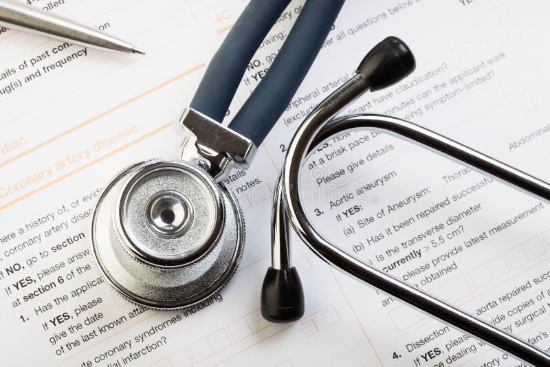 Forma médica imagenes de archivo