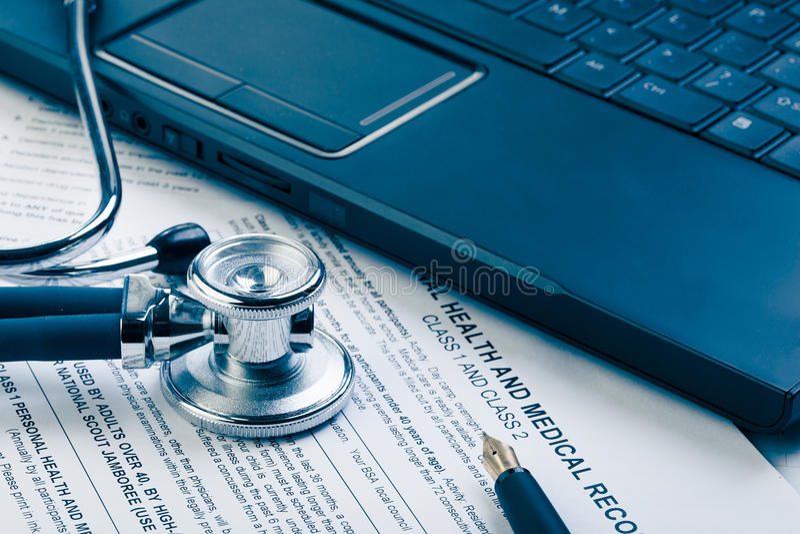 Forma médica fotografía de archivo
