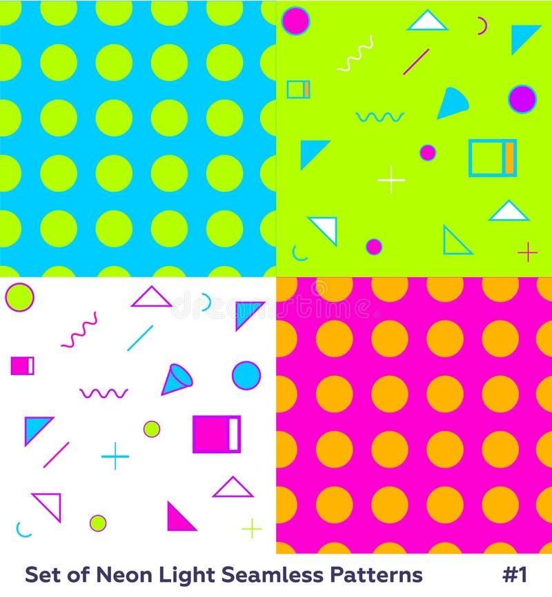 Forma Memphis Style Geometric Pattern do moderno ilustração stock