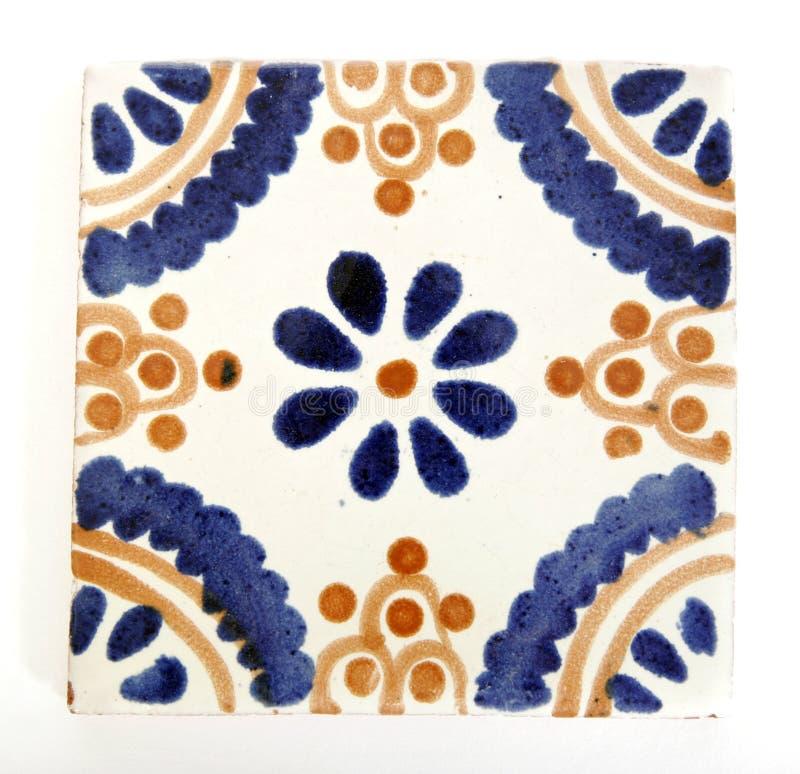 Forma mexicana quadrada da telha foto de stock royalty free