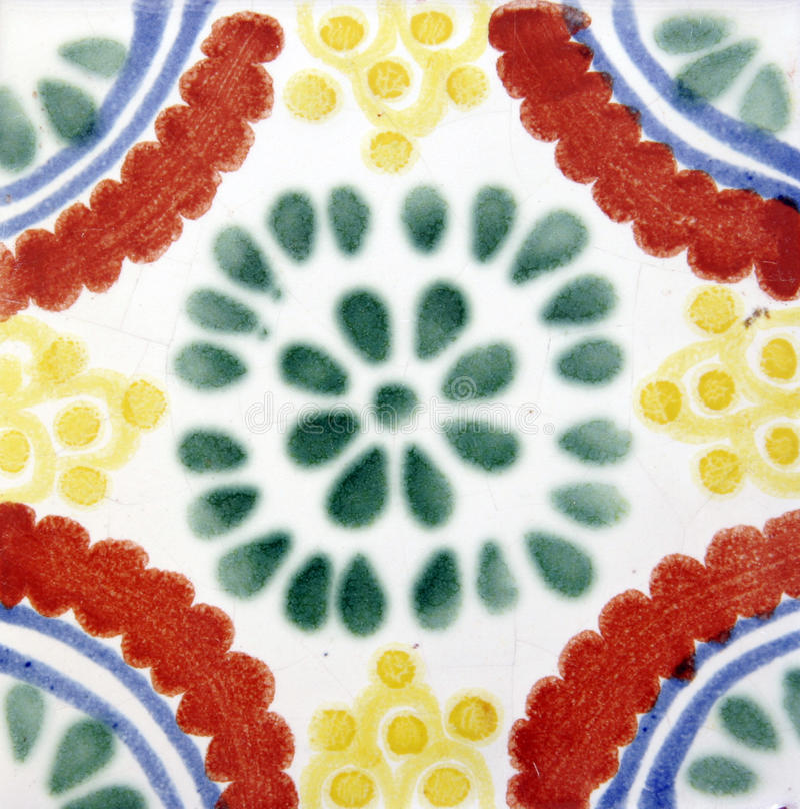 Forma mexicana quadrada da telha fotografia de stock royalty free