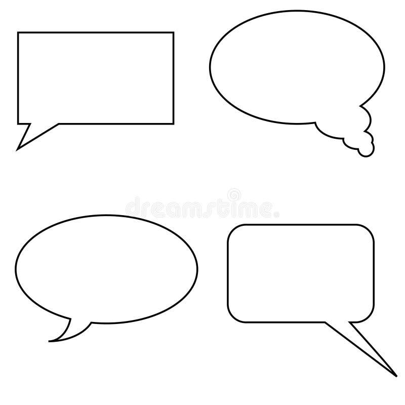Forma para falar ilustração royalty free