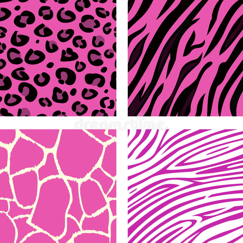 Forma que telha testes padrões animais cor-de-rosa da cópia ilustração do vetor