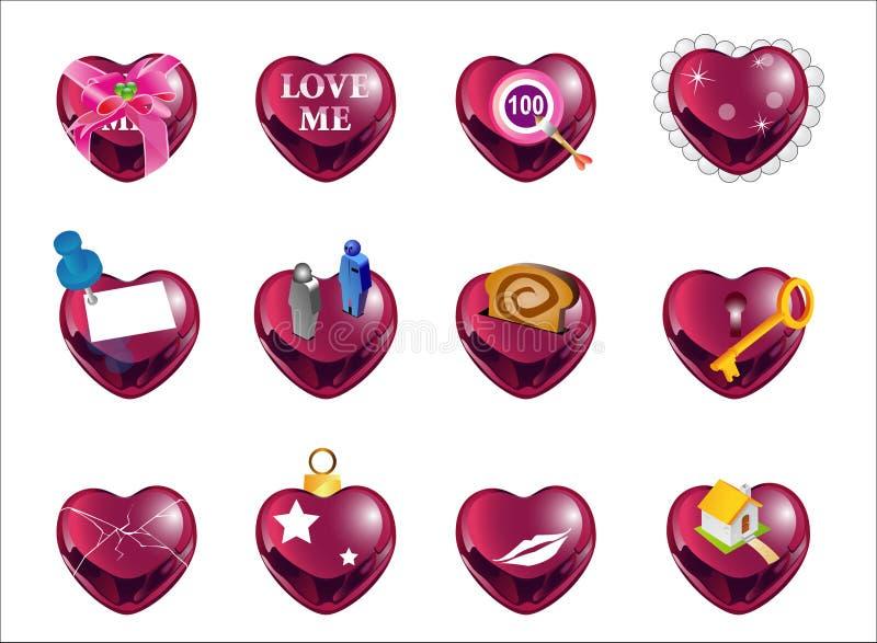 Forma red1 do amor ilustração royalty free