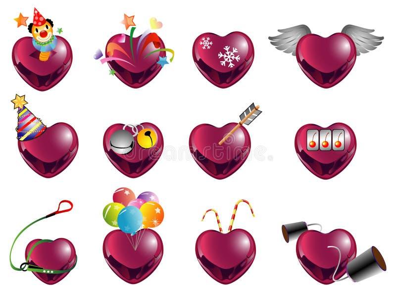 Forma red2 do amor ilustração stock