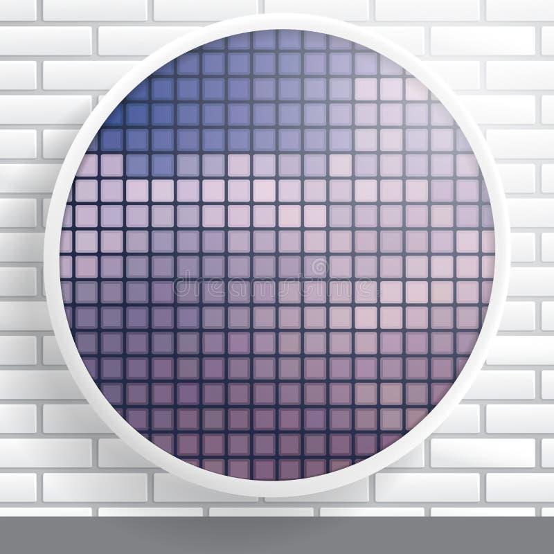 Forma redonda abstracta con el marco ilustración del vector