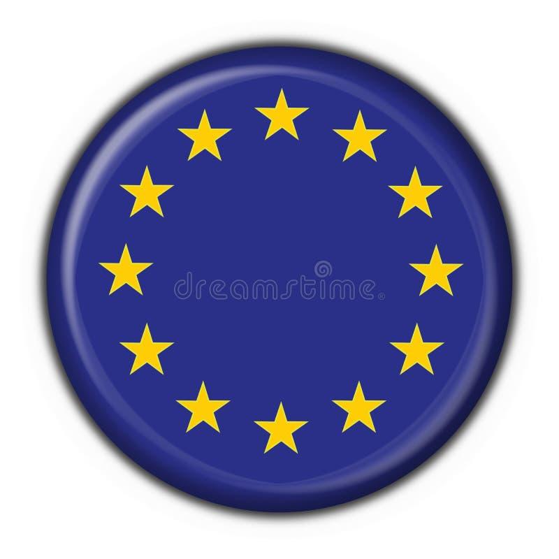 Forma redonda da bandeira da tecla de Europa ilustração stock