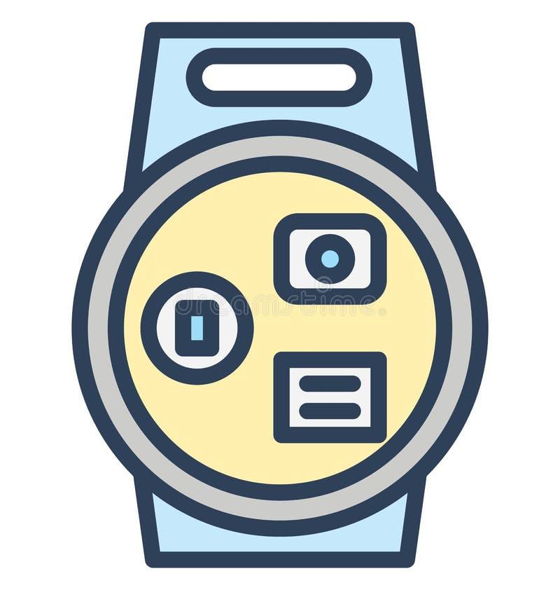 A forma, relógio da mão isolou o ícone do vetor que pode facilmente ser editado em todo o tamanho ou ser alterado ilustração stock