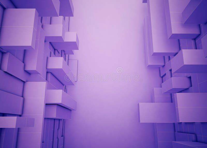 Forma retangular abstrata da caixa diversa roxo ilustração do vetor