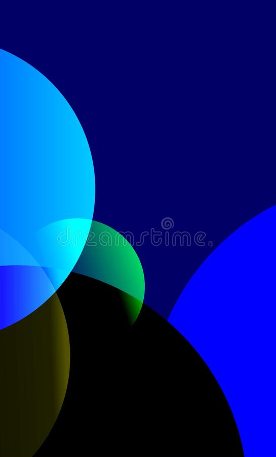 forma rotonda di colore del cerchio dei blu navy illustrazione vettoriale