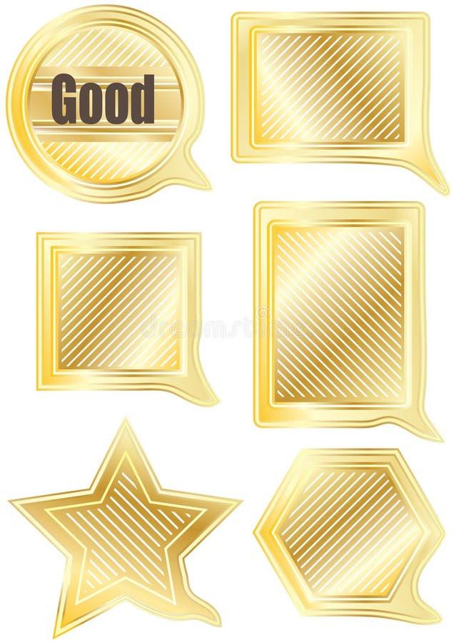 Forma Set_eps do ouro do discurso ilustração stock