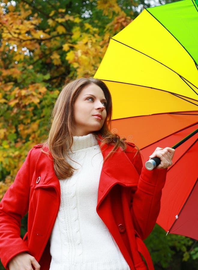 Forma 'sexy' da mulher do outono bonito fotos de stock
