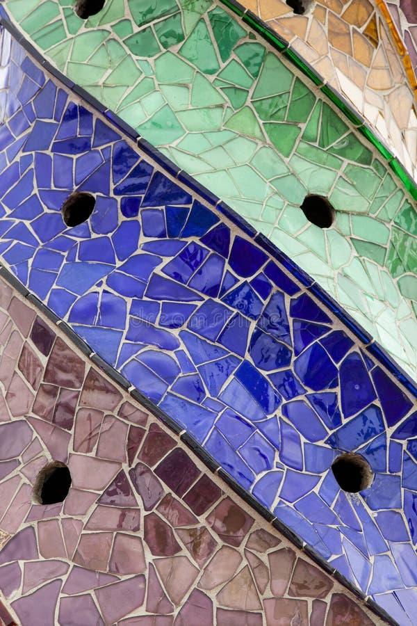 Forma a spirale decorativa colorata delle mattonelle fotografia stock