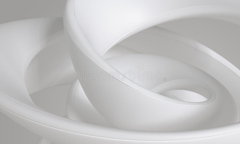Forma sutil del remolino flúido lechoso gris blanco - concepto abstracto del fondo ilustración del vector