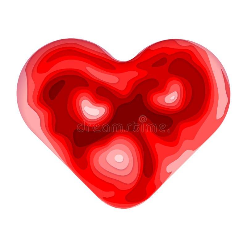 Forma tagliata di carta del cuore dell'estratto di vettore royalty illustrazione gratis