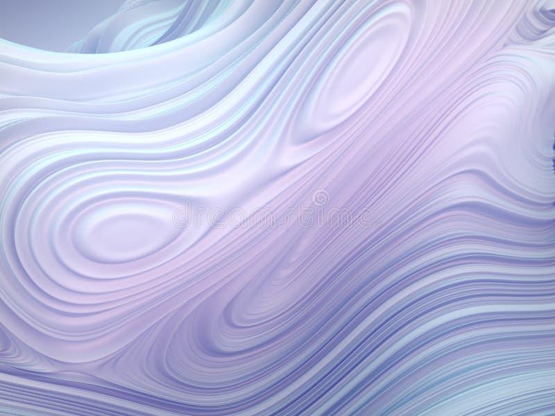 Forma torcida blanca 3D geométricos abstractos generados por ordenador rinden el ejemplo stock de ilustración