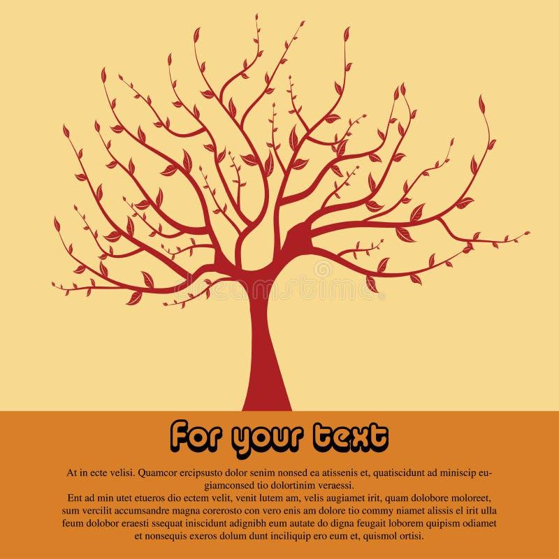 Forma vermelha da árvore ilustração royalty free