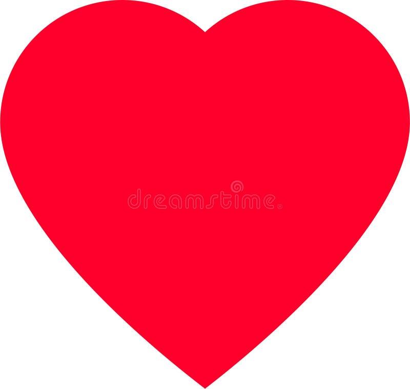 Forma vermelha do coração para símbolos do amor ilustração royalty free