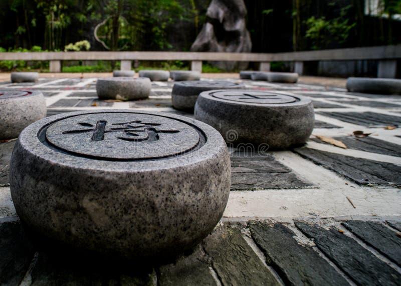 Formación china del ajedrez horizontal foto de archivo