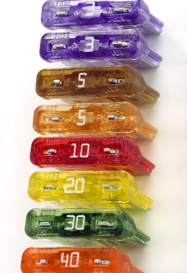 Formación colorida de los fusibles fotografía de archivo