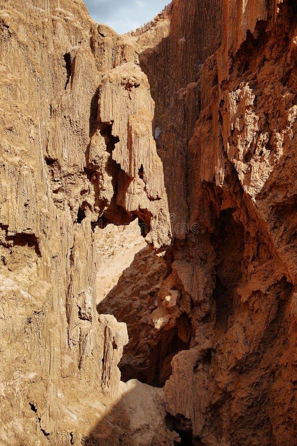 Formación curiosa de la arena en el valle de Marte fotografía de archivo libre de regalías