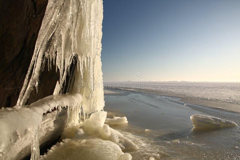Formación de hielo fotografía de archivo
