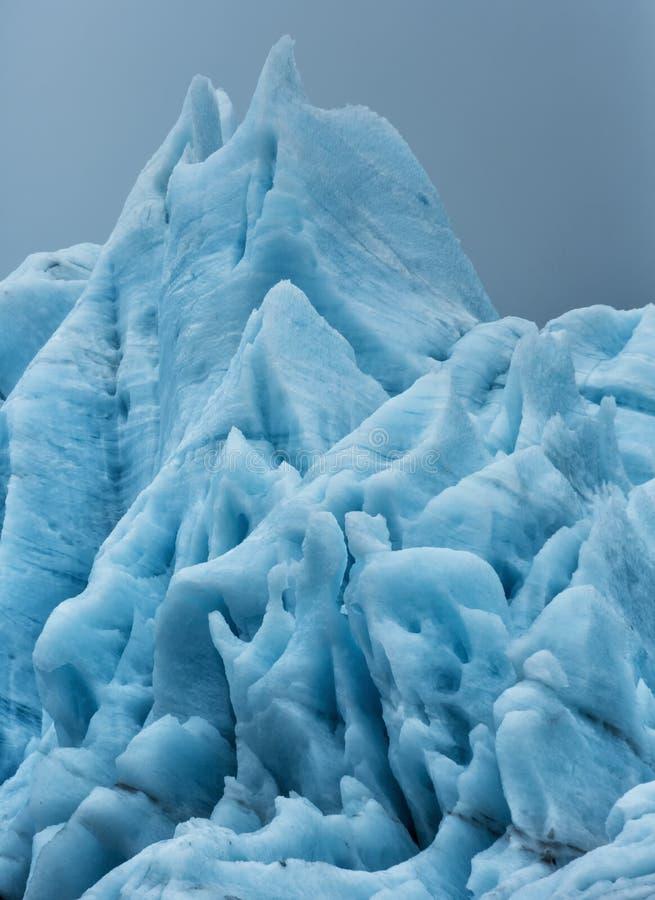 Formación de hielo del glaciar de Portage imagenes de archivo