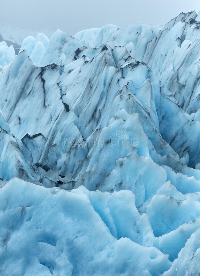 Formación de hielo del glaciar de Portage fotografía de archivo libre de regalías