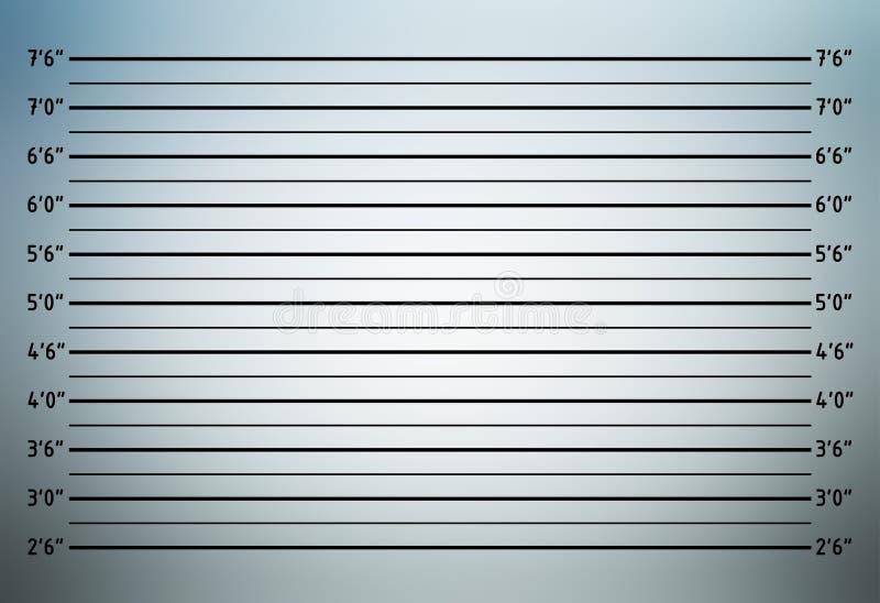 Formación de la policía o fondo del mugshot imagen de archivo libre de regalías