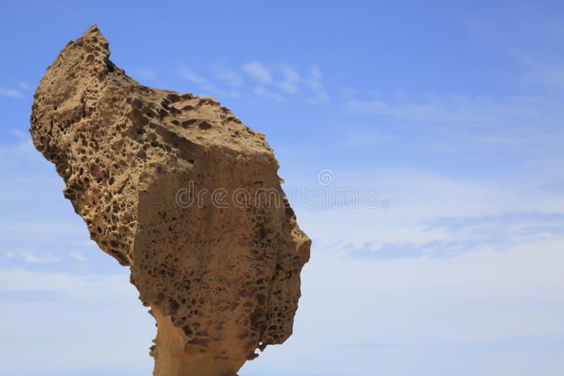 Formación de la roca principal de la reina, geopark de Yehliu imagen de archivo