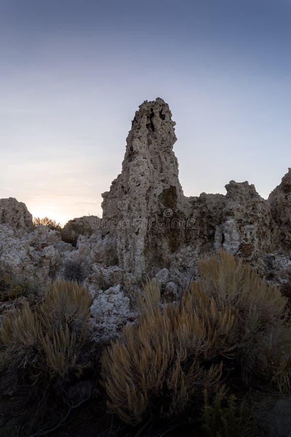 Formación de la toba volcánica - mono lago fotos de archivo libres de regalías
