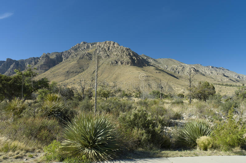 Formación de las montañas de Guadalupe imagen de archivo